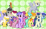 Background ponies WP by AliceHumanSacrifice0