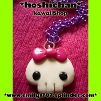 skull necklace by emily1707