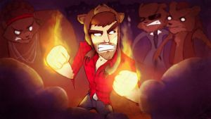 CinnamonToastKen - Fist Of Awesome - Thumbnail by ScribbleNetty