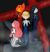 Evangelion x Adventure Time - Death and Rebirth by GustyBow