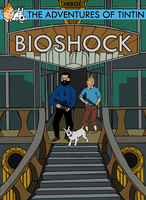 Tintin in Bioshock new cover by Party9999999