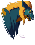 Teal Lion Sketch by Tarragon-8