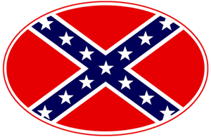 Confederate Flag Badge by hassified