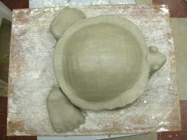 Clay Turtle Sculpture (Top View) by Molybdenum-Blues
