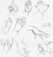 Life Drawing: Hand Studies by EsmeArmitage