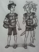 Percy Jackson and Annabeth Chase by BethanySkena