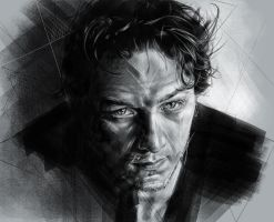 James McAvoy by GrayscaleArt