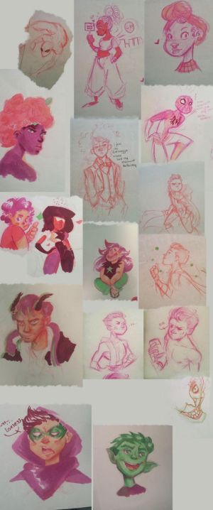 Sketch Dump-Doodles and Copic Marker Practice by BabyPhat268