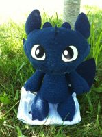 Toothless Plush Under The Tree by BeautifulHusky