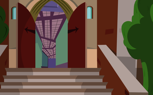 Monster High School Stairs Background by chunk07x