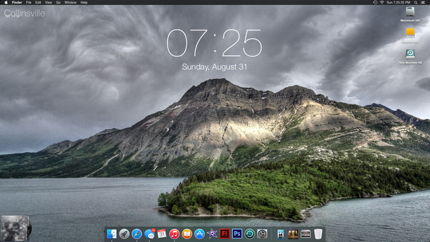 August Desktop - Yosemite Beta Release 2 by PrincessCakeNikki