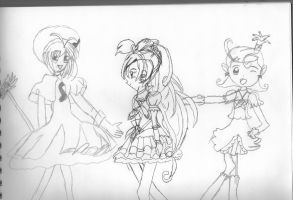 Random Magical Girls by KittyChanBB