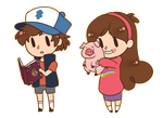 Dipper and Mabel by D-M-M
