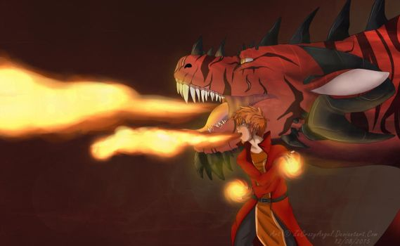 Mr El FireCrotch and his best bud by ZeCrazyAngel