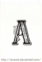 The letter A by averok