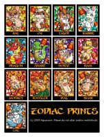 Chinese Zodiac Prints by Aquacoon