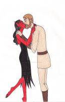 Marna and Obi-Wan by 13foxywolf666