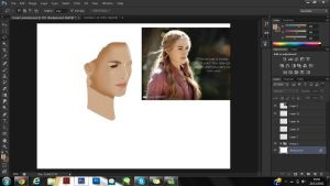 Cersei Lannister Painting WIP by Yurusen