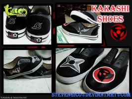 KAKASHI THEMED SHOES by stevengico