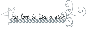 MY LOVE IS LIKE A STAR - PNG TEXT by emmalinepotter