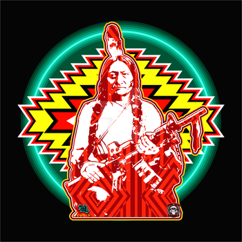 Sitting Bull Medicine Piece Sml by godzillasmash