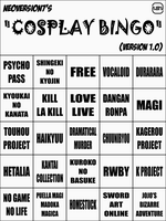 Cosplay BINGO by NeoVersion7
