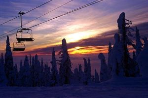 sundown on the slopes by evilvikingqueen