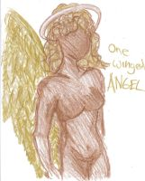 Angel in crayon by crassenti