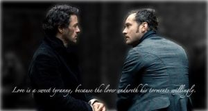 A Sweet Tyranny-Holmes+Watson- by calceil