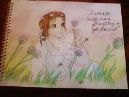 Belle - Watercolor - Beauty and the Beast by SuicidalxEmbrace
