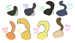 :CATSTUCK: Tail Refs 1 - COLOR by PONYPUKE