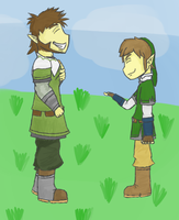 Link and Eagus by JabuJabule