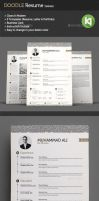 Doodle Resume Template (wave) by kholispress