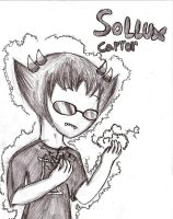 portrait drawing- Sollux Captor by Rotommowtom