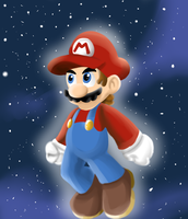 Mario galaxy by greenwolfs12
