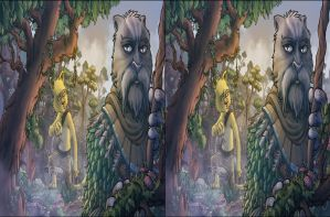 Weretiger and Blank (Stereoscopic 3D) 1 of 3 by ObsidianAbnormal