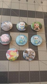 Pokemon Card Buttons by adriley313