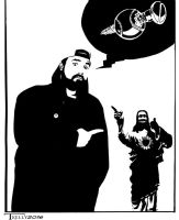 Silent Bob by Tom Kelly by TomKellyART