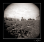 holga water tower and grass by electricjonny