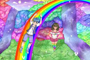 Rainbow world by TheULTImateAngel
