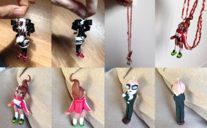 Dangan Ronpa Charms by AllKindsOfYES