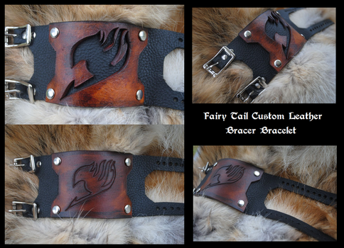 Fairy Tail Bracer Bracelet by Epic-Leather