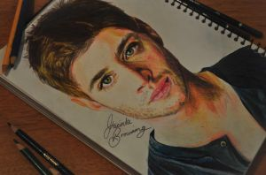 Jensen Ackles (Dean Winchester) by jacintabrowning