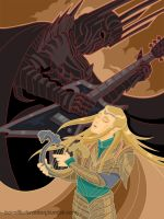 finrod felagund vs sauron - the rock-off by tigressinger