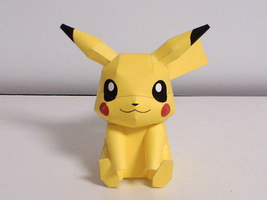 Paper Pikachu by Fangthewhitewolf4