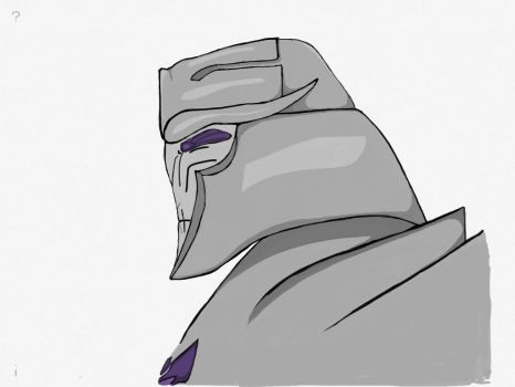 Megatron side profile by Megatronus11