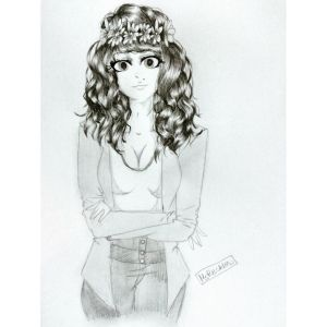 Curly hair by MsRecklessDrawing
