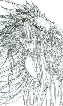 Lineart -- Unrealised God -- by tomuyu