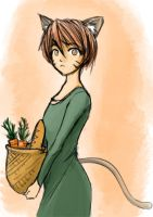 Doodle anime cat girl by Geartap