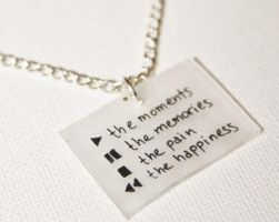 Play, Pause, Stop, Rewind necklace by kogalover97